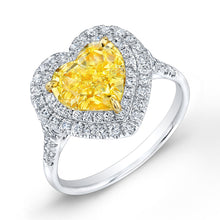 Load image into Gallery viewer, Fancy Yellow Heart Shaped Diamond Fashion Ring, Fashion Rings,  - [Wachler]