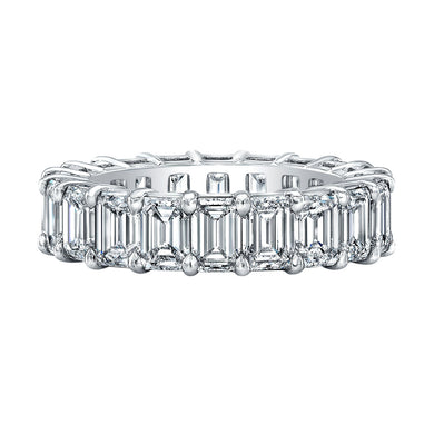Emerald Cut Eternity Band 6.69 Carats Total, Bands for her,  - [Wachler]