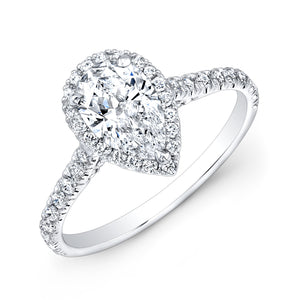 Pear Shaped Diamond Engagement Ring, Engagement Ring,  - [Wachler]