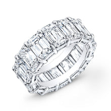 Load image into Gallery viewer, Emerald Cut Diamond Eternity Wedding Band, Wedding Bands,  - [Wachler]