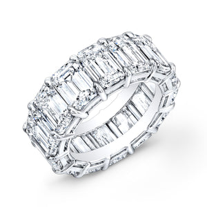 Emerald Cut Diamond Eternity Wedding Band, Wedding Bands,  - [Wachler]