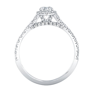 Marquise Cut Diamond Engagement Ring with Pave Halo, Engagement Ring,  - [Wachler]