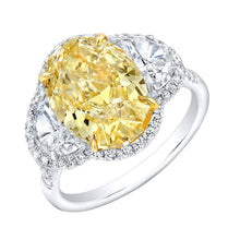 Load image into Gallery viewer, Fancy Yellow Oval Cut Diamond Engagement Ring, Engagement Ring,  - [Wachler]
