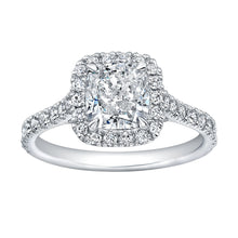 Load image into Gallery viewer, Cushion Cut Diamond Cut with Pave Halo, Engagement Ring,  - [Wachler]