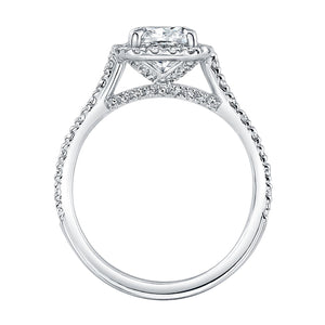 Cushion Cut Diamond Cut with Pave Halo, Engagement Ring,  - [Wachler]