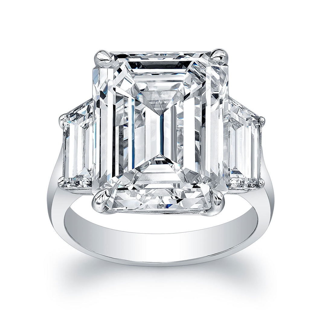 10 Carat Emerald Cut Engagement Ring, Engagement Ring,  - [Wachler]
