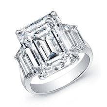 Load image into Gallery viewer, 10 Carat Emerald Cut Engagement Ring, Engagement Ring,  - [Wachler]