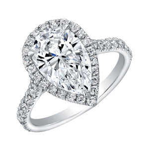 2.5 Carat Pear Shape Diamond Engagement Ring, Engagement Ring,  - [Wachler]