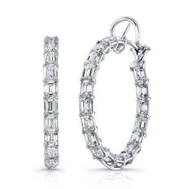 15.94ct Hoop Diamond Earrings, Earrings,  - [Wachler]