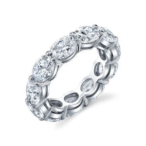 Oval Diamond Eternity Band, Bridal,  - [Wachler]