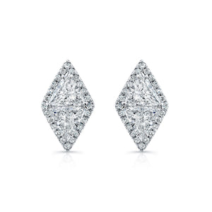 Trillion Cut Diamond Stud Earrings, Earrings,  - [Wachler]