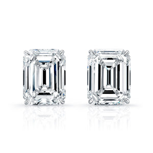 20.18ct Emerald Cut Diamond Stud Earrings, Earrings,  - [Wachler]