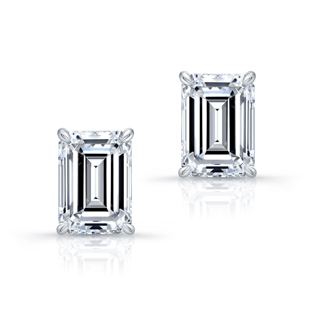 6.03ct Emerald Cut Diamond Earrings, Earrings,  - [Wachler]