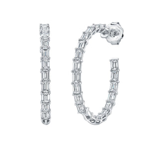13.69ct Diamond Hoop Earrings, Earrings,  - [Wachler]