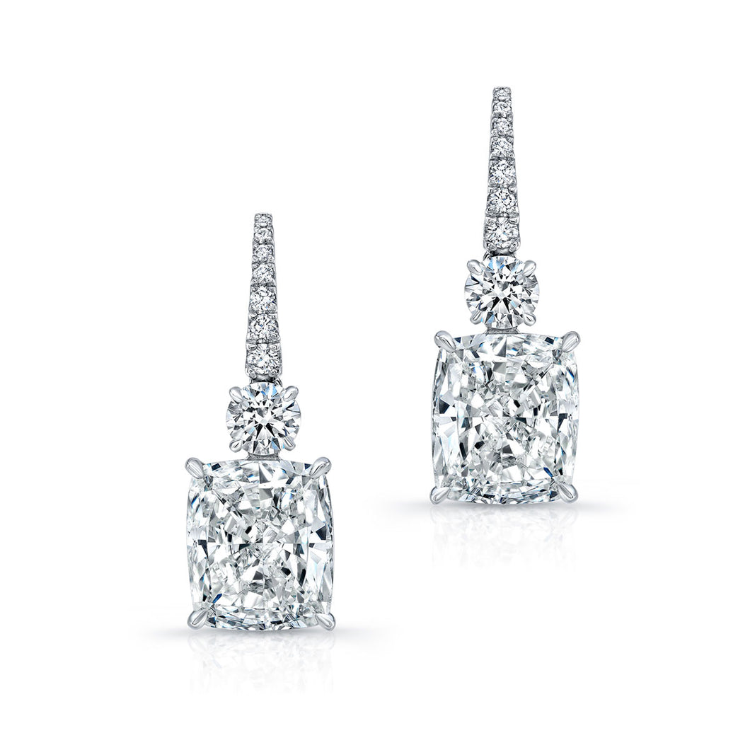 Cushion Cut Diamond Earrings, Earrings,  - [Wachler]