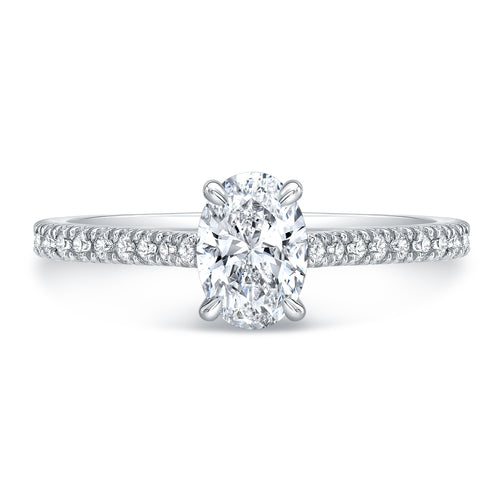 Oval Cut Diamond Engagement Ring, Engagement Ring,  - [Wachler]