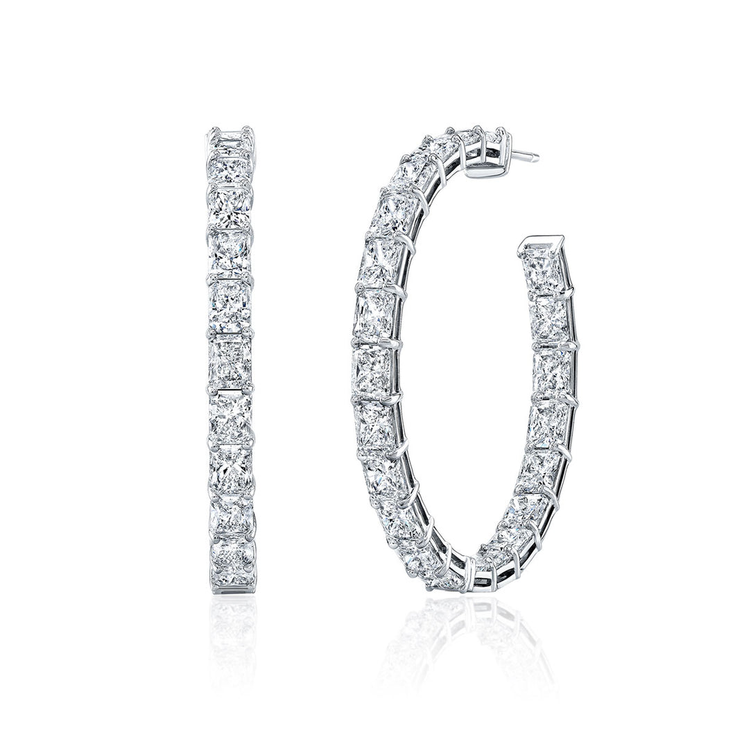 18.08ct Diamond Hoop Earrings, Earrings,  - [Wachler]
