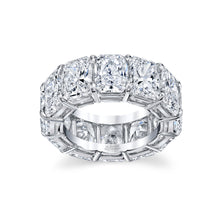 Load image into Gallery viewer, Cushion Cut Diamond Eternity Ring, Bridal,  - [Wachler]