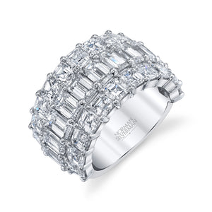 Multi Cut Diamond Wedding Ring, Bridal,  - [Wachler]