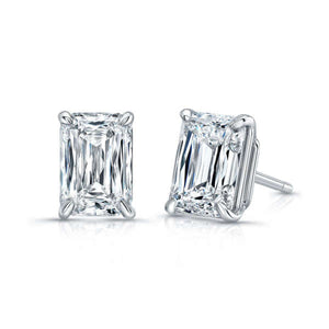 Emerald Cut Diamond Stud Earrings, Earrings,  - [Wachler]