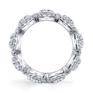 Square Cut Diamond Eternity Band, Bridal,  - [Wachler]