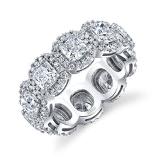 Load image into Gallery viewer, Square Cut Diamond Eternity Band, Bridal,  - [Wachler]