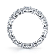 Load image into Gallery viewer, Emerald Cut Diamond Eternity Band, Bridal,  - [Wachler]