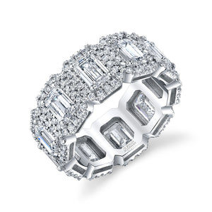 Emerald Cut Diamond Eternity Band, Bridal,  - [Wachler]