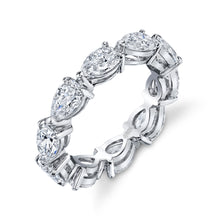 Load image into Gallery viewer, Pear Shaped Diamond Eternity Band, Bridal,  - [Wachler]