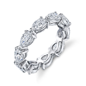 Pear Shaped Diamond Eternity Band, Bridal,  - [Wachler]