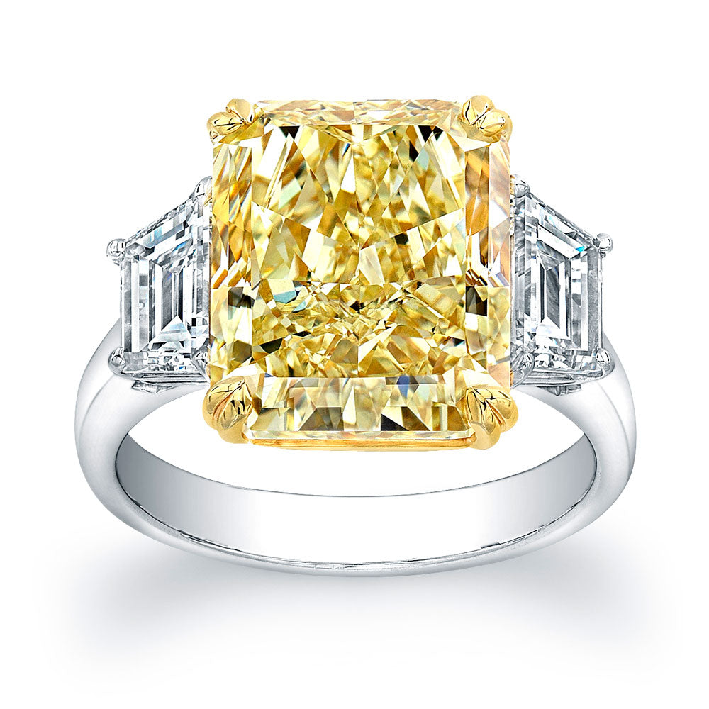 Fancy Yellow Radiant Cut Diamond Engagement Ring, Engagement Ring,  - [Wachler]