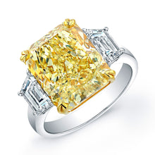 Load image into Gallery viewer, Fancy Yellow Radiant Cut Diamond Engagement Ring, Engagement Ring,  - [Wachler]