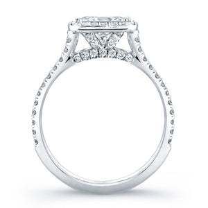 Princess Cut Diamond Engagement Ring with Pave Halo, Engagement Ring,  - [Wachler]