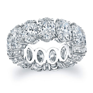 Oval Cut Diamond Eternity Wedding Band, Wedding Bands,  - [Wachler]