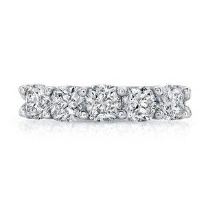 Round Diamond Wedding Band with Pave Accents, Wedding Bands,  - [Wachler]