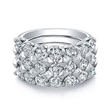 Load image into Gallery viewer, Triple Row Diamond Wedding Band, Wedding Bands,  - [Wachler]
