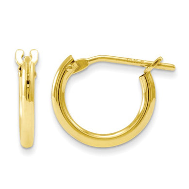 14k Gold Baby Hoop Earrings