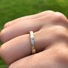 Load image into Gallery viewer, Baguette Diamond Eternity Band in 18k Gold
