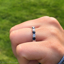 Load image into Gallery viewer, Diamond & Sapphire Eternity Band