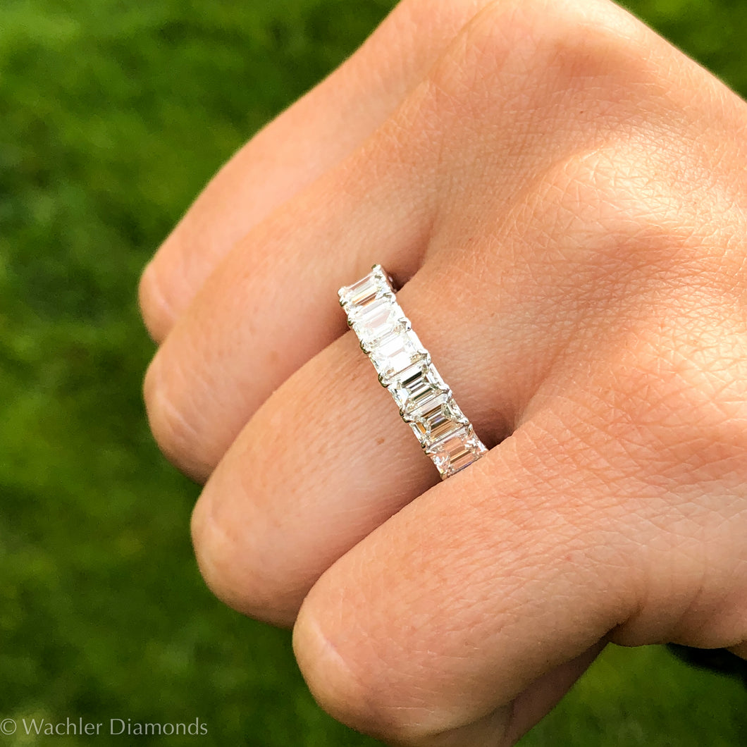 Wachler Emerald Cut Band 5 CT