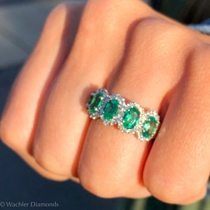 Wachler Emerald Halo Band