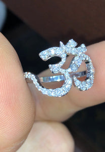 Om Diamond Ring