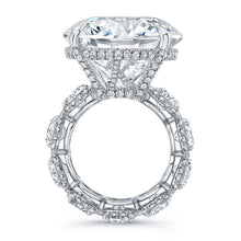 Load image into Gallery viewer, Round Cut Diamond Engagement Ring with Eternity Style, Engagement Ring,  - [Wachler]