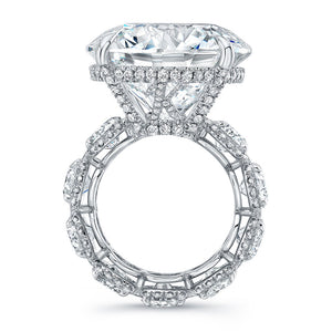 Round Cut Diamond Engagement Ring with Eternity Style, Engagement Ring,  - [Wachler]