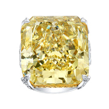 Load image into Gallery viewer, Fancy Yellow Cushion Cut Diamond Engagement Ring, Engagement Ring,  - [Wachler]
