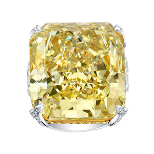 Fancy Yellow Cushion Cut Diamond Engagement Ring, Engagement Ring,  - [Wachler]
