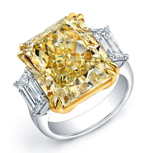 Fancy Yellow Asscher Cut Diamond Engagement Ring, Engagement Ring,  - [Wachler]