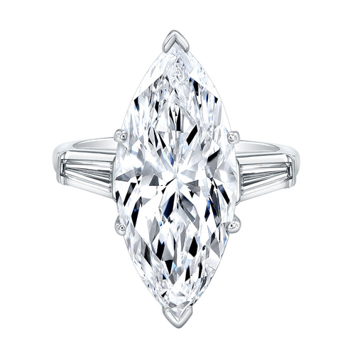 Marquise Cut Diamond Engagement Ring, Engagement Ring,  - [Wachler]