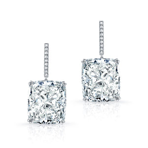 51.36ct Cushion Cut Diamond Earrings, Earrings,  - [Wachler]