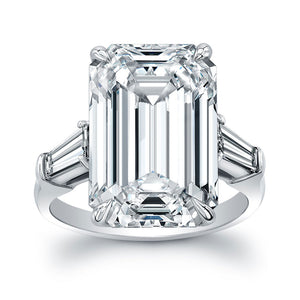 Emerald Cut Diamond Engagement Ring, Engagement Ring,  - [Wachler]